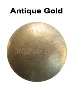 rg convex nailheads antique gold