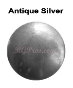 rg convex nailheads antique silver