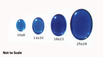 Preciosa Oval Glass Cabochons Sizes
